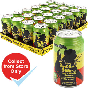 Buy Levi Roots Fiery Ginger Beer Case Of 24 At Home Bargains