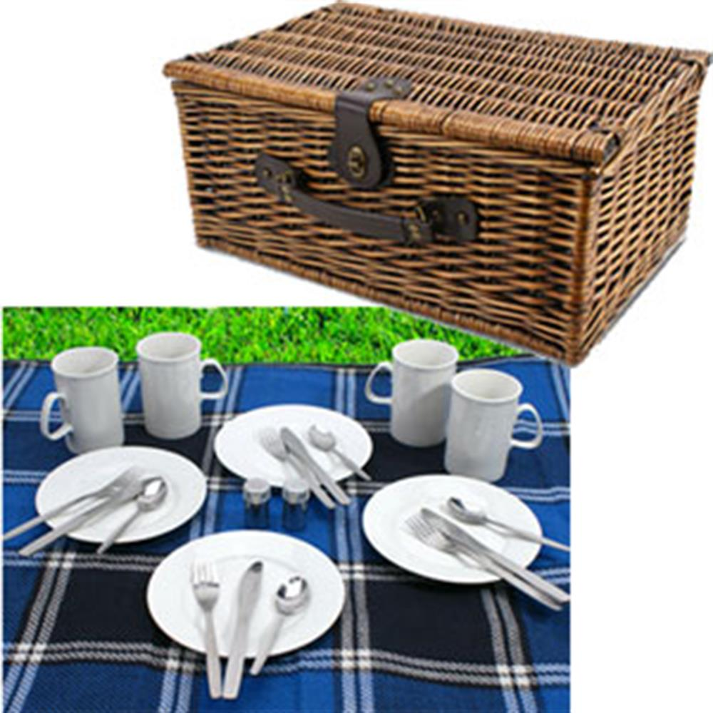 Picture of AA Deluxe Filled Picnic Hamper Basket