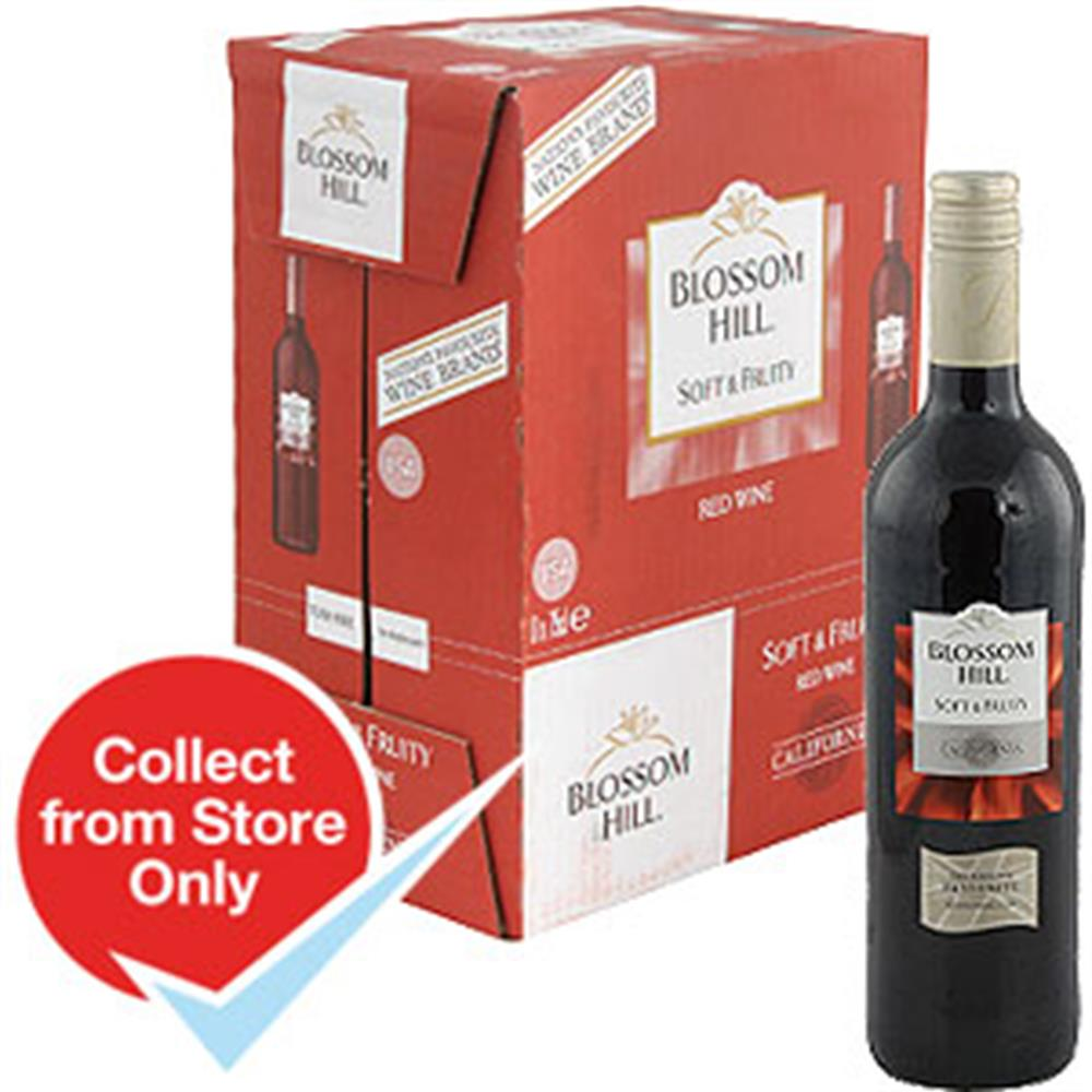 Buy Blossom Hill Soft And Fruity Red Wine Case Of 6 At Home Bargains