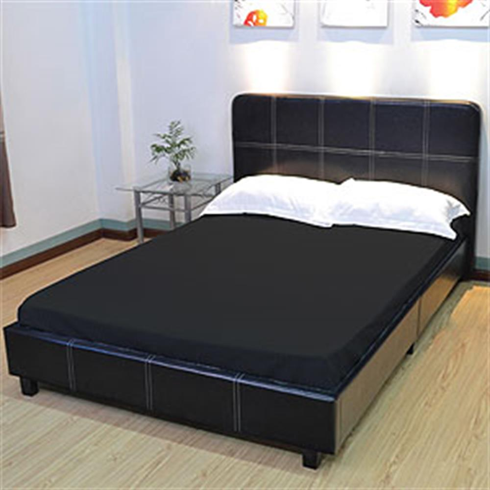 Picture of Essentials Fitted Sheet: Black