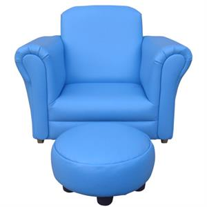 Buy children 39 s rocking chair with footstool blue at home for Childrens rocking chair with footstool