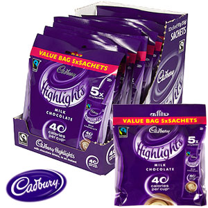 Picture of Cadbury Highlights Milk Chocolate (Case of 60 Sachets)
