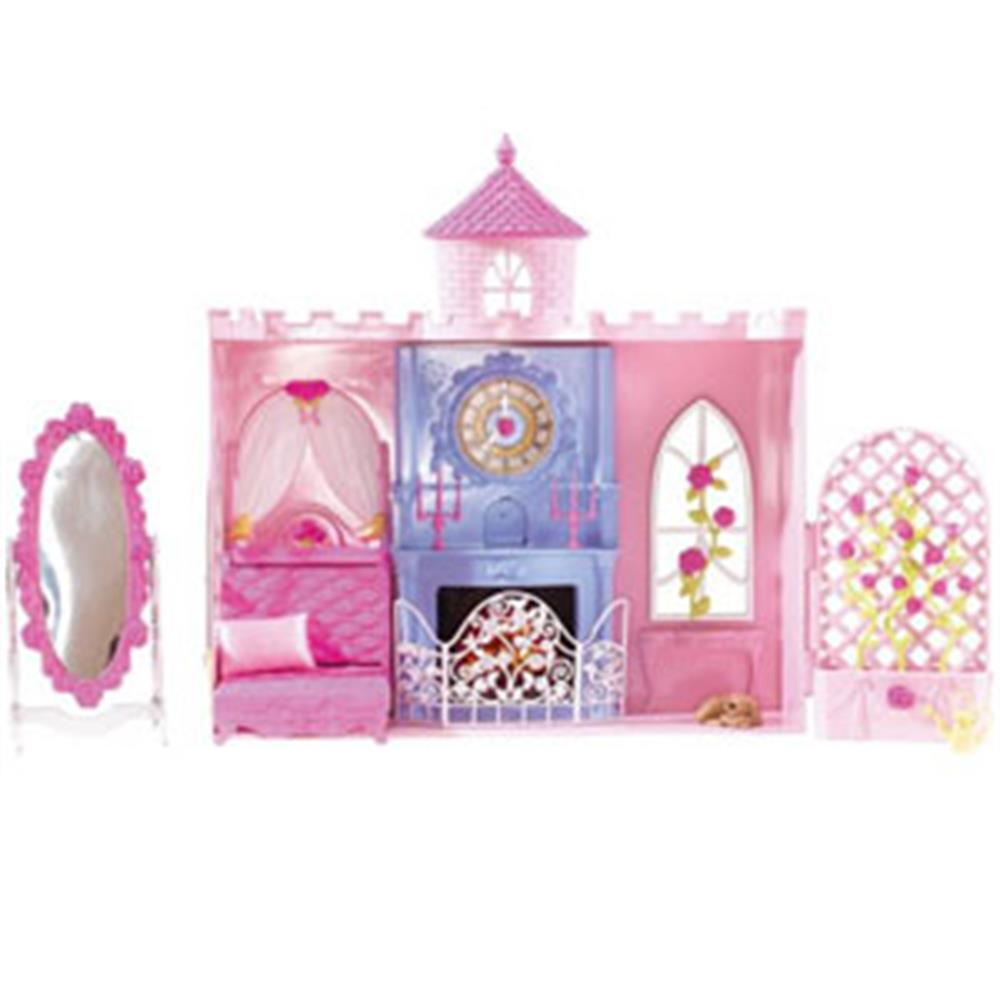 Buy Barbie Sleeping Beauty Tower Bedroom Playset at Home