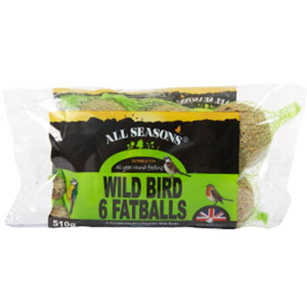 Picture of All Seasons Wild Bird Fatballs 6pk Un-netted (Case of 20)
