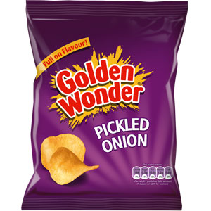 Picture of Golden Wonder: Pickled Onion (Case of 48 Packs)