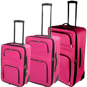 Buy Departure Expandable Suitcase: Pink at Home Bargains