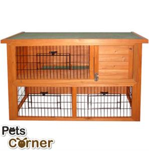 Buy Wooden Rabbit Hutch At Home Bargains