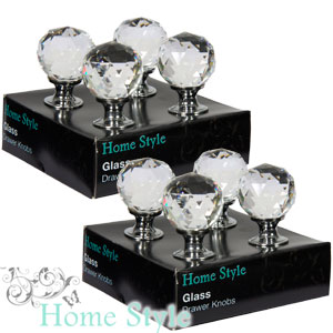 buy home style glass drawer knobs medium set of 8 at home bargains
