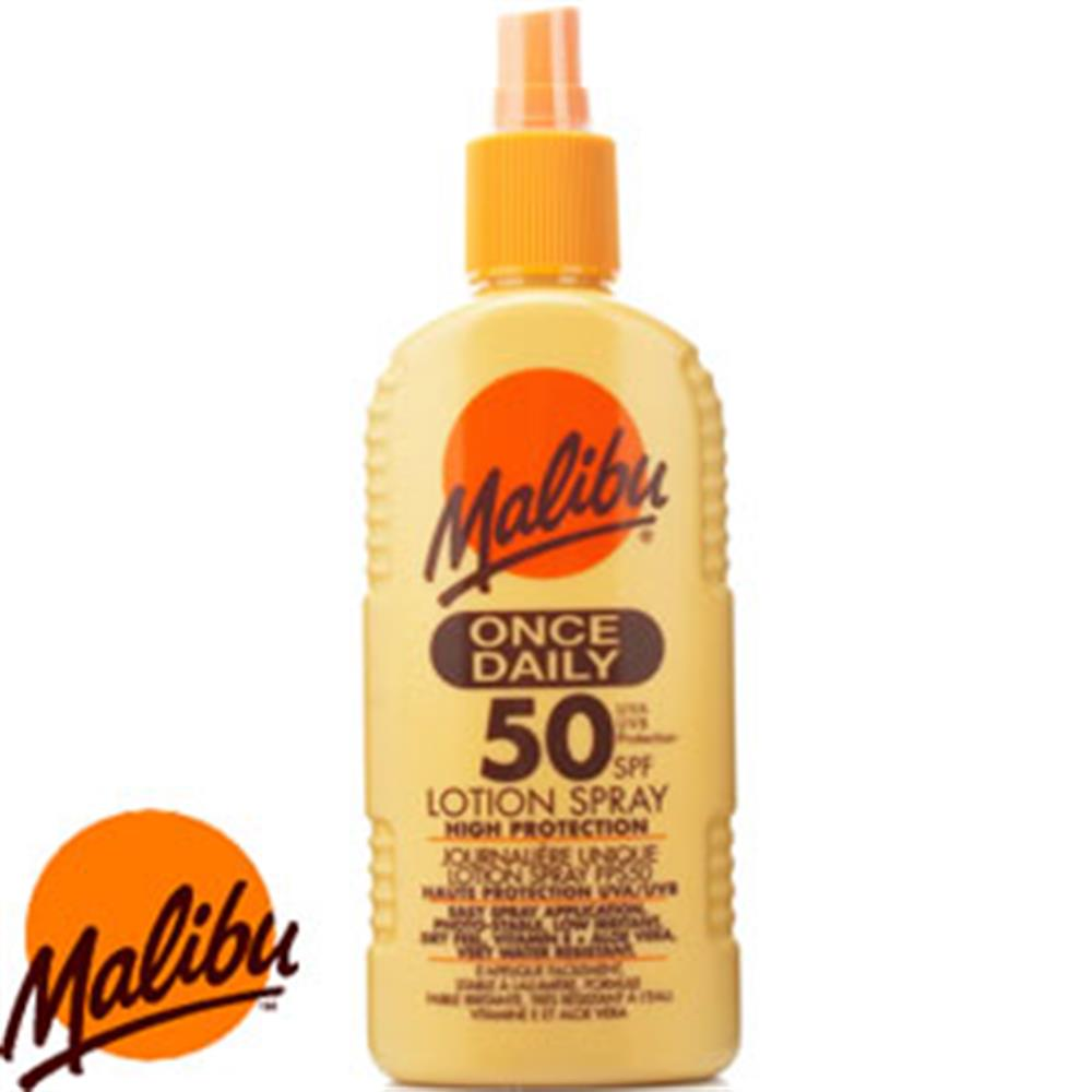 Picture of Malibu 200ml Once Daily Sun Lotion Spray SPF50
