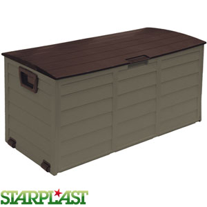 Buy Starplast Garden Storage Box Brown At Home Bargains