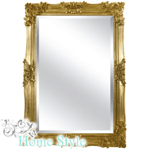 Buy champagne gold ornate mirror 90 x 60cm at home bargains for Mirror 90 x 60