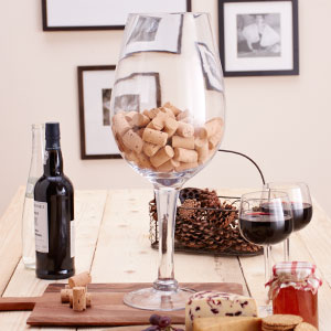 Buy Giant Wine Glass Decoration 05m Case Of 4 At Home Bargains