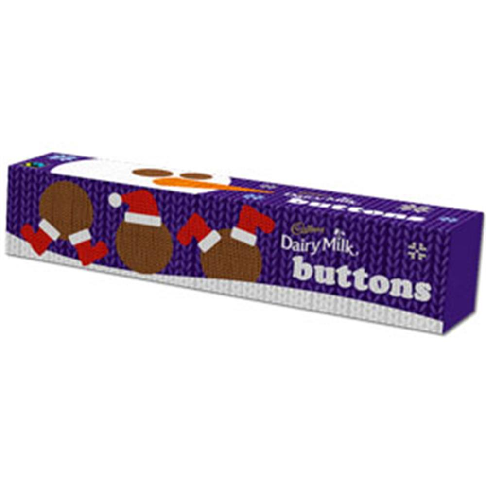 Picture of Cadbury Christmas Buttons Tube (Case of 12 x 72g)