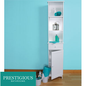 buy prestigious bathrooms tall boy cabinet at home bargains