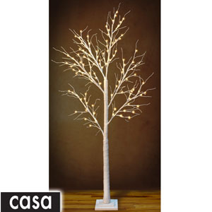 Buy Casa Floor Standing Led Snowy Tree White Sparkle At