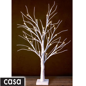 Buy Casa Table Top Led Snowy Tree White At Home Bargains