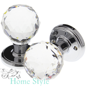 Buy Home Style Glass Door Knobs: Extra Large (Set of 2) at Home Bargains