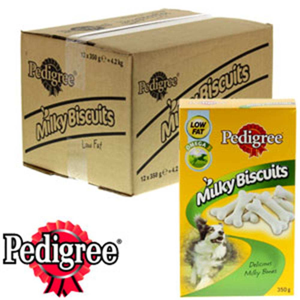 Picture of Pedigree Low Fat Milky Biscuits (12 x 350g Boxes)