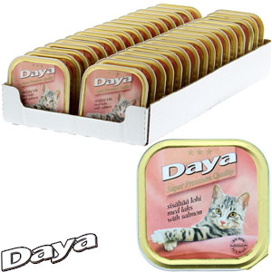 Buy Daya Adult Cat Food With Salmon 32 X 100g Tray At