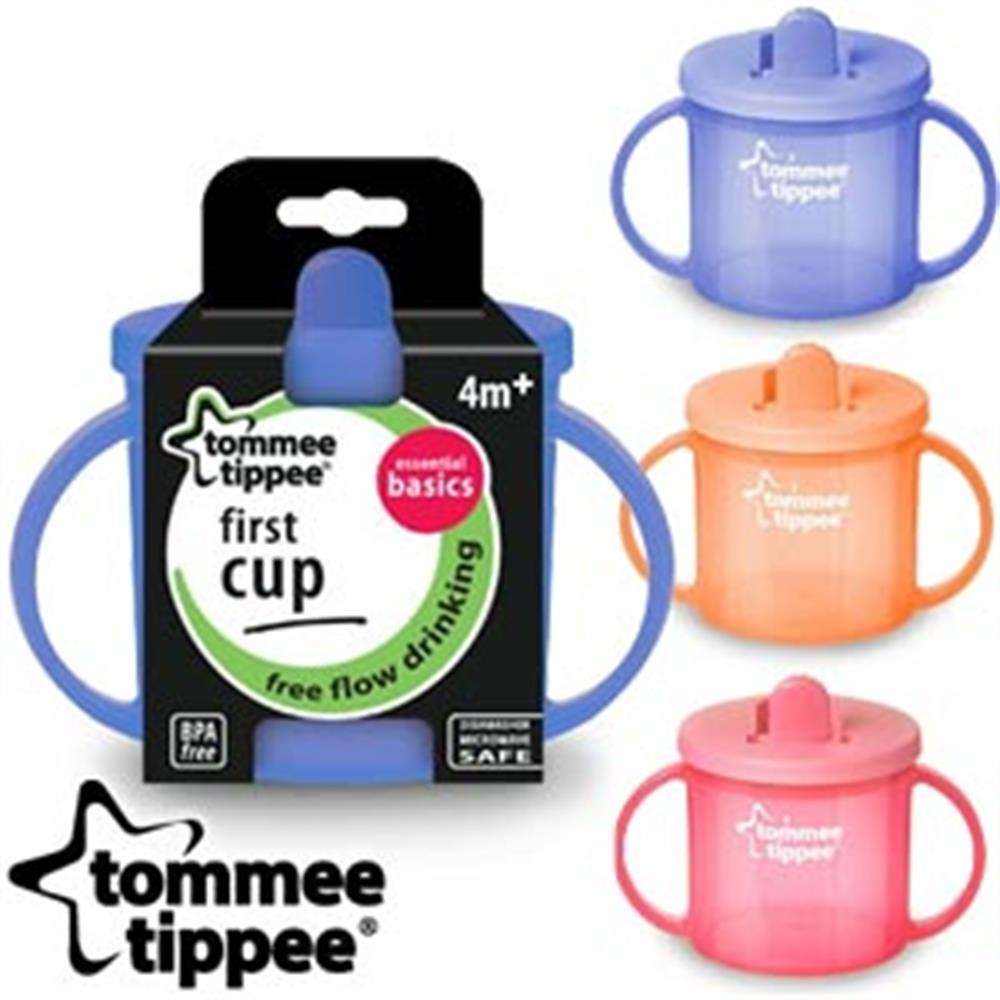 Uk Sale 2 × Baby First Cup Trening Drinking Tommee Tippee Essentials 190ml 4m