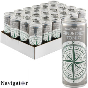Buy Navigator Gin Diet Tonic 24 X 250ml Cans At Home Bargains