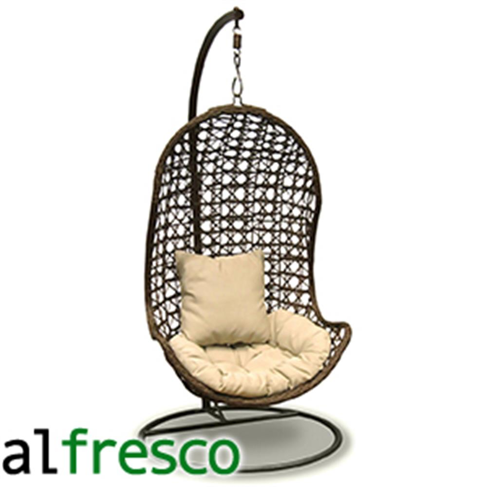 Buy Al Fresco St Tropez Hanging Chair and Cushion at Home