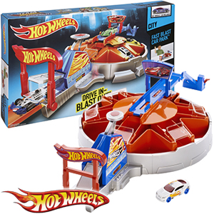 buy hot wheels city fast blast car park at home bargains. Black Bedroom Furniture Sets. Home Design Ideas