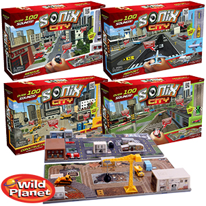 Sonix City Toy Raceway Interactive Playset Interactive Sound Micro Vehicles Kids