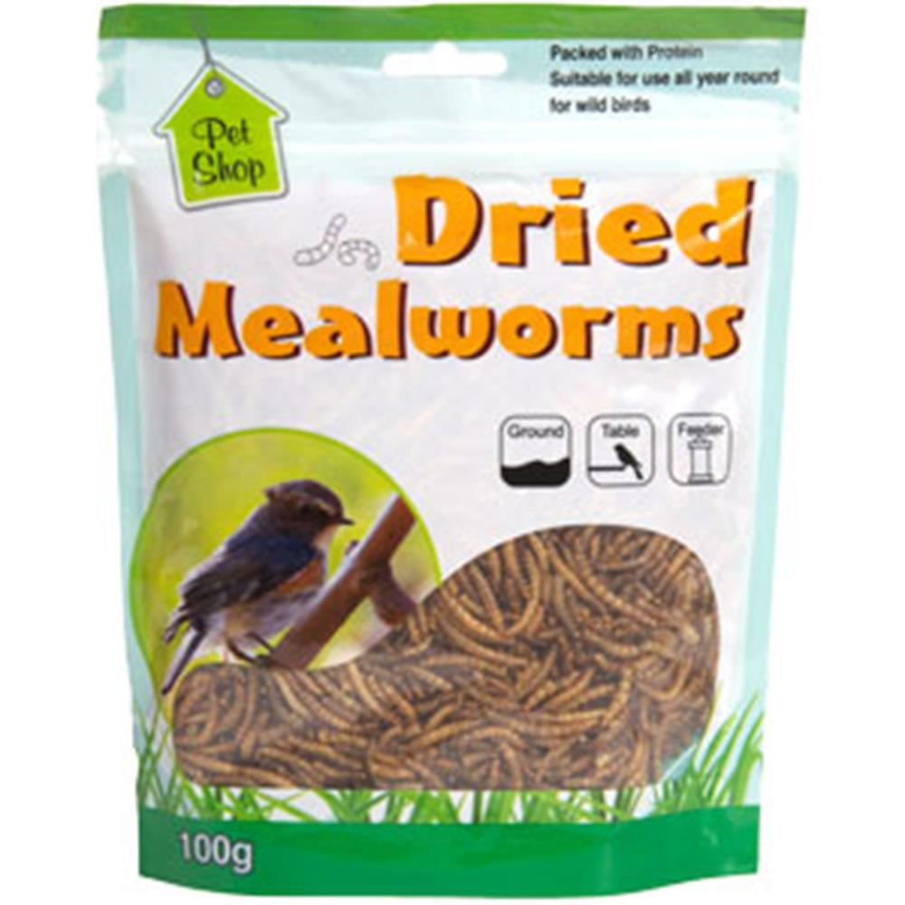 Picture of All Seasons Dried Mealworms: 2kg (20x100g Packs)