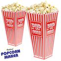 Retro Plastic Popcorn Holders (Case of 48)
