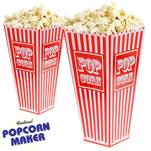 Picture of Retro Plastic Popcorn Holders (Case of 48)