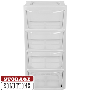 Buy 4 drawer large pale grey storage tower at home bargains picture of 4 drawer large pale grey storage tower gumiabroncs Image collections