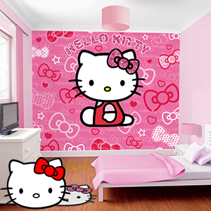 Buy Walltastic Hello Kitty Wall Mural At Home Bargains