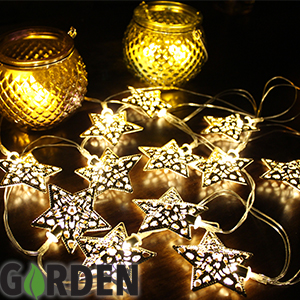 Picture of Solar Powered Garden String Lights: Metal Star