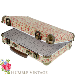 Buy Humble Vintage Floral Suitcase at Home Bargains