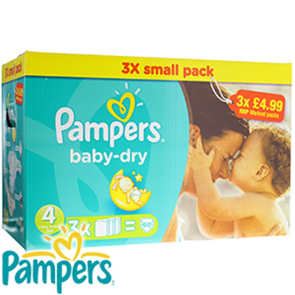 Picture of Pampers Baby-Dry: Case of 60 Nappies (Size 4)