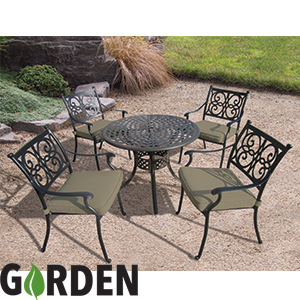 Buy Bistro 4 Seat Aluminium Garden Patio Table Chair Set At Home