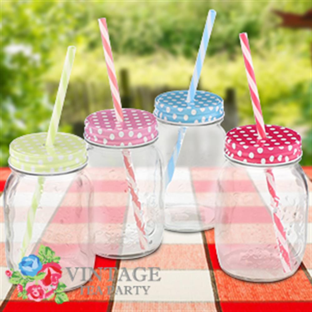 Picture of Vintage Polka Dot Party Jam Jar (Case of 24)
