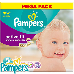 Picture of Pampers Active Fit Size 5 Nappies (Case of 60)
