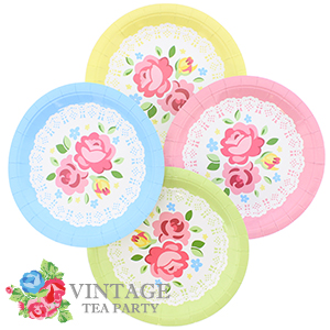 Buy Blooming Bea Tea Party Paper Plates: 7\