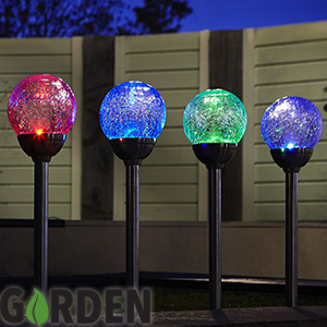 Buy Colour Changing Crackle Ball Solar Light Case Of 12