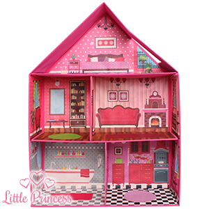 Buy Pop Up Fabric Dolls House At Home Bargains
