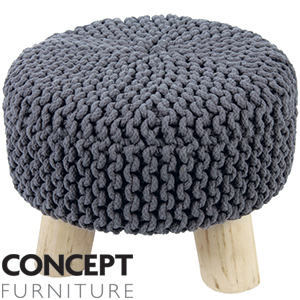 Buy Concept Furniture Knitted Foot Stool Slate At Home