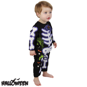 picture of halloween toddler skeleton costume