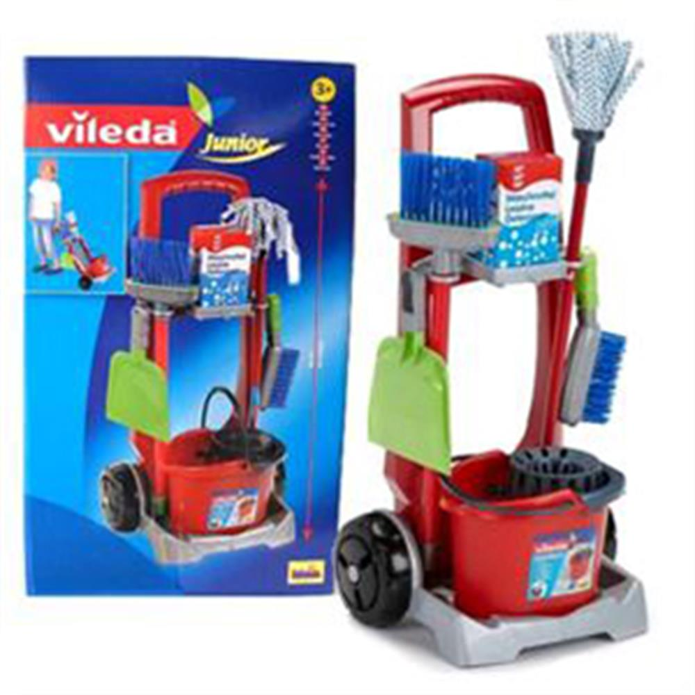 Picture of Klein Toys: Vileda Junior Cleaning Trolley Set