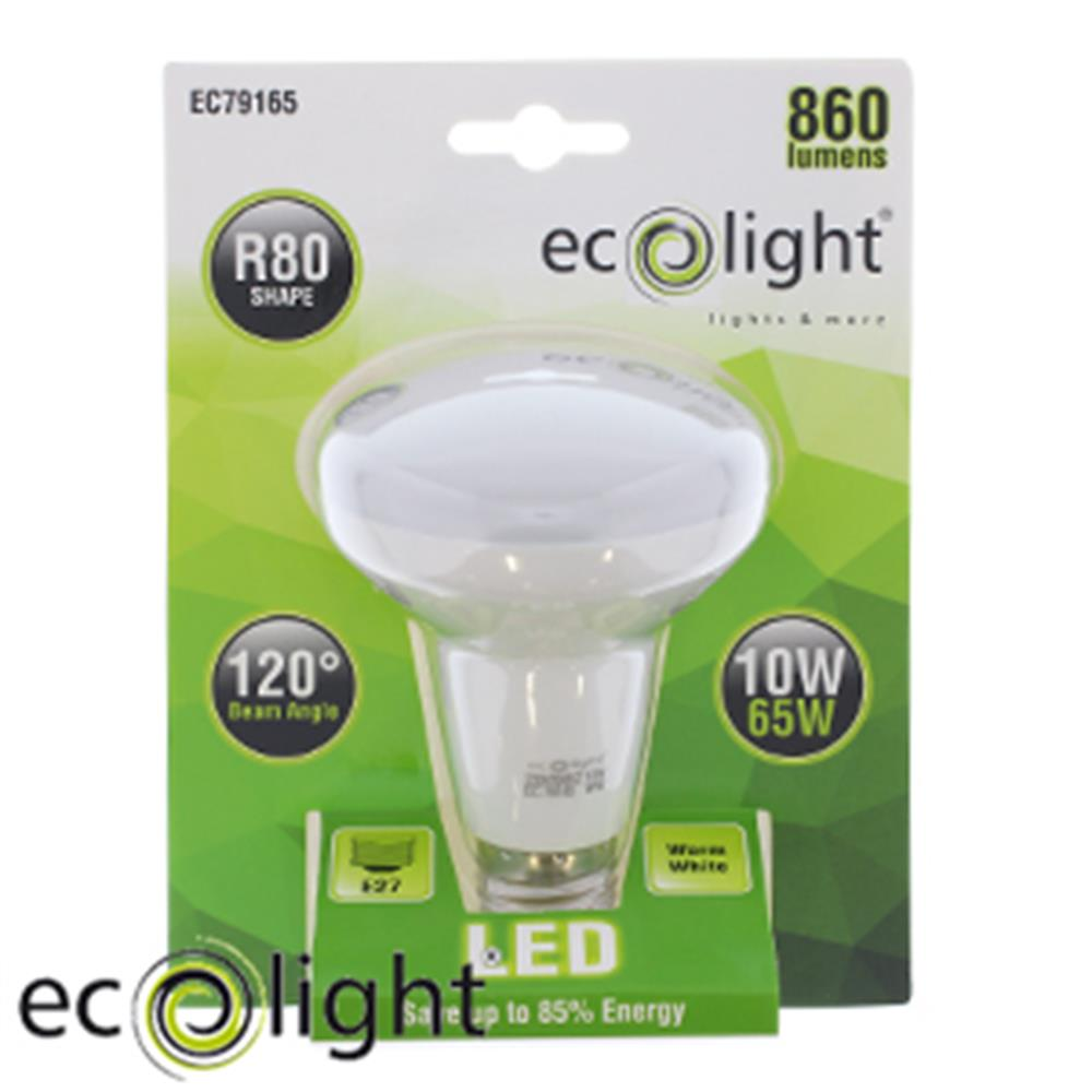 Picture of Ecolight E27 R80 Warm White LED Bulbs (Case of 12)