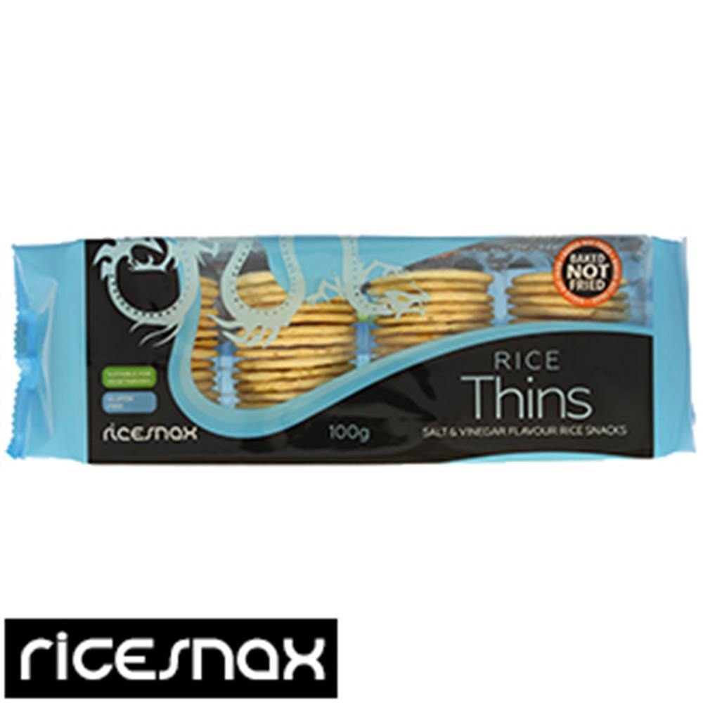 Picture of Ricesnax Salt & Vinegar Rice Thins (Case of 24 Packs)