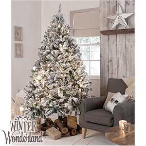 picture of winter wonderland 7ft snowy artificial christmas tree