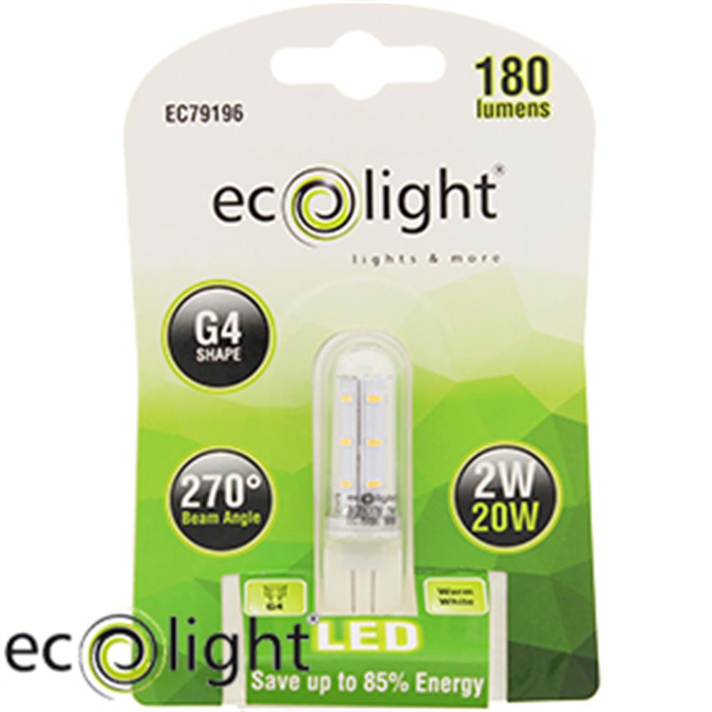 Picture of Ecolight G4 Warm White LED Bulbs (Case of 12)