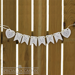 Buy special occasion mr mrs ceramic mini bunting at home bargains picture of special occasion mr mrs ceramic mini bunting junglespirit Image collections